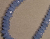 Blue Chalcedony Beads / Faceted Beads / 6x3mm