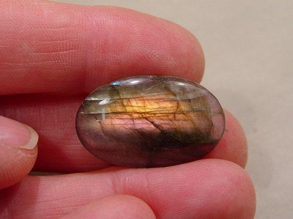 Blush\/Gold Shimmery Labradorite.....28x17