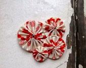 yo-yo flower fascinator, handmade. flutterby