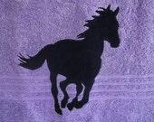 Purple Horse Towel