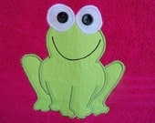 Hot Pink Frog Towel