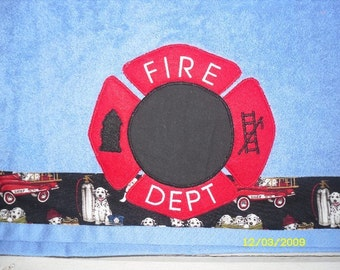 Fireman Towel in Blue
