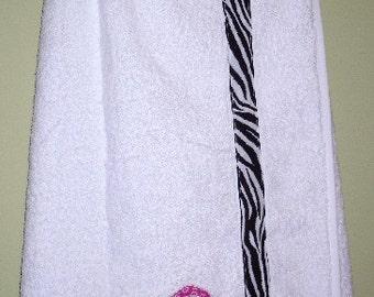 Towel Wrap in Zebra Print