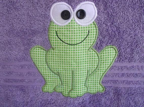 Purple Frog Towel