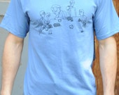 Poker Face mens t-shirt blue