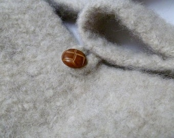 Felted Wool Shoulder Bag - Heathered Oatmeal - Round the Town - Medium Purse - Handbag - Neutral Tweed