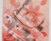 Fine Art Modern Monoprint : IDreamOfYou