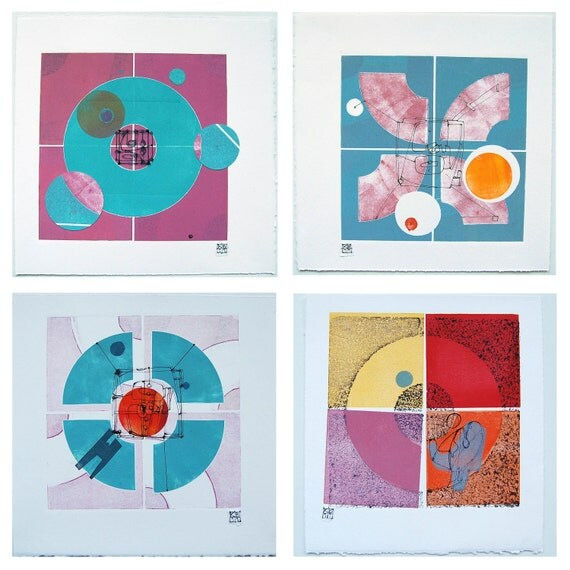 Abstract Contemporary Fine Art Monoprint : Radiology