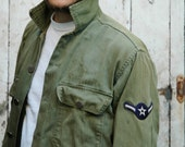 Vintage 1960s US Airforce Green Fall Jacket