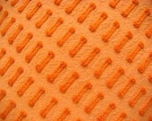 Morgan Jones  Orange Buttonhole Vintage Cotton Chenille Bedspread Fabric Corner Pc