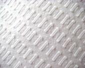 Morgan Jones White Buttonhole Vintage Chenille 12 x 24 Inches