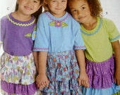 Whistle Pig Creek Productions Tiered Skirt, Complementary Embellishments and Headband, Pattern, New
