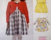 McCall Pattern Girl's Darling Dress 3-Ways Size 1-2-3