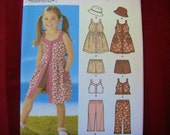 Simplicity Pattern Girls Summer Clothing Size 3,4,5,6,7,8