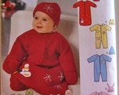 SIMPLICITY Infant Slumber Bag, Bunting, Pajama Pattern Size XXS, XS, S