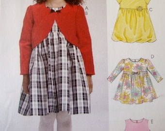 McCall Pattern Girl's Darling Dress 3-Ways Size 1-2-3