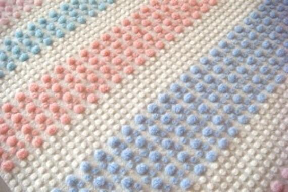 Rare Morgan Jones Four-Color Pops Vintage Chenille Bedspread Fabric