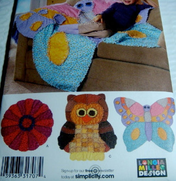 Simplicity Crafts Animal Shaped Rag Quilts