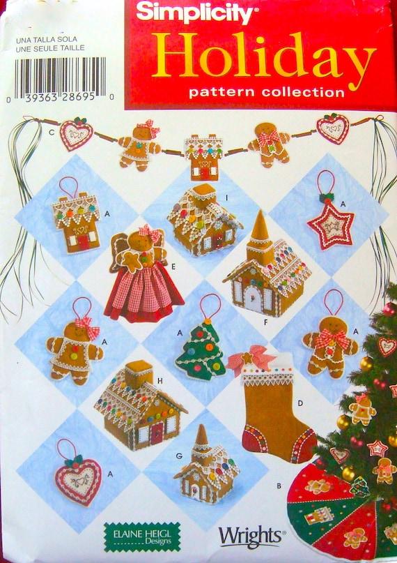 Simplicity Christmas Pattern Designs Elaine Heigl Designs 2004