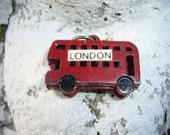 antique 1940s london double decker bus charm