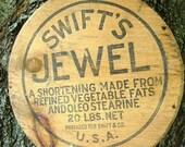 Vintage Wooden Advertising Sign Jewel Vegetable Oleo