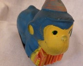 Vintage Japan Toy Monkey On Wheels with Accordian