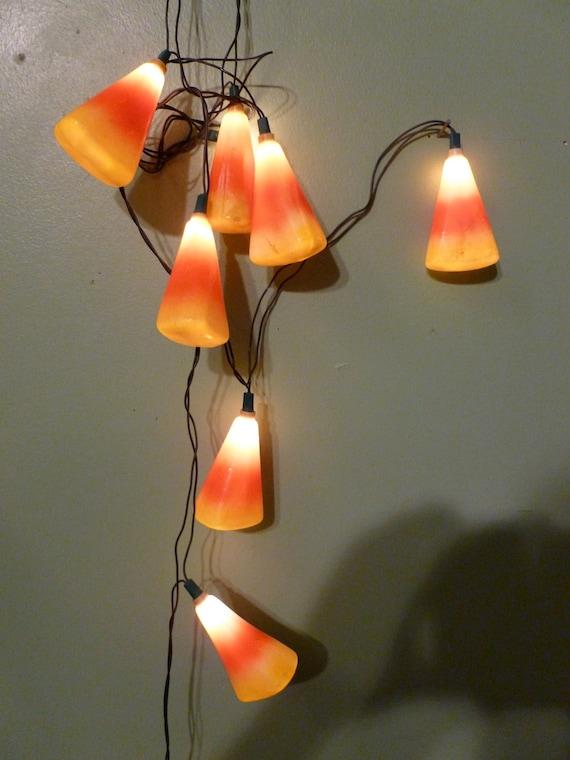 Vintage Halloween Candy Corn Lights