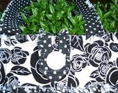 RESERVED RESERVED Chloe Rag Bag in Black with White Dots