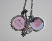 Custom Photo necklace with Personalized Name and/or Birth date - Perfect gift for Mom