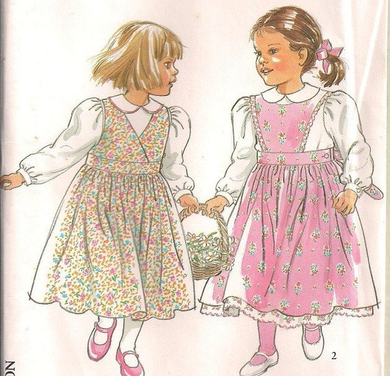 New Look 6613 Girls blouse pinafore and underskirt sewing pattern Sz 3-8 years