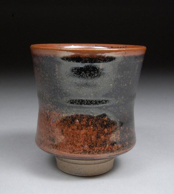 Yunomi Tea Cup glazed with Teadust Tenmoku Mesmerizing glaze finish