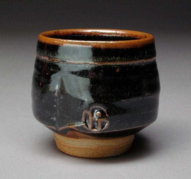 Tea Dust Tenmoku Glazed Yunomi Tea Cup