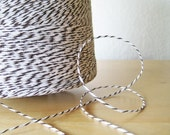 "Bakers Twine - ""Coco Bean"" - Dark Brown and White - 100 Yards"