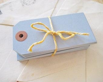 Blank Manila Gift Tags - set of 25 in Cornflower Blue - Medium