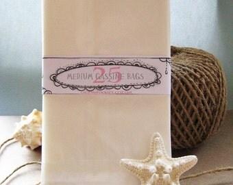 Glassine Bags - Medium - Set of 25 in Frost White