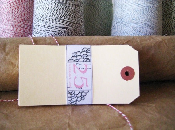 Extra Large Blank Manila Gift Tags - set of 25 in Cream - Extra Large