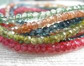 Moss green necklace - green quartz - green bracelet - quartz bracelet - H A L E Y 085