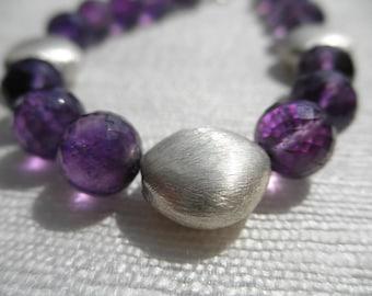 Amethyst bracelet - vermeil bracelet - purple bracelet - H A L E Y 054
