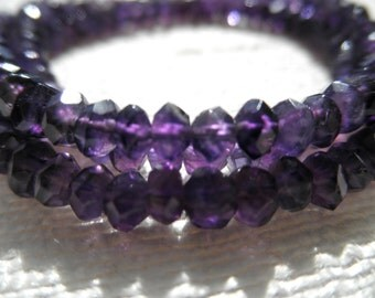 Amethyst necklace - purple necklace - silver necklace - H A L E Y 190