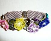 Blooming Flowers Beaded Bracelet