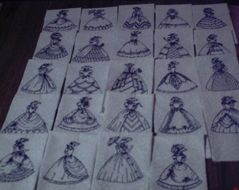Machine Embroidered Southern Belle Quilt Blocks
