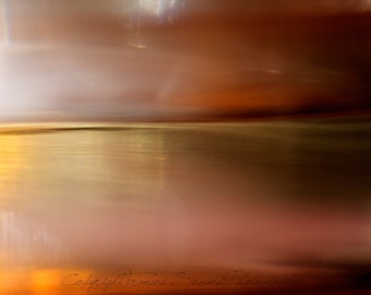 Red Horizon.  Fine Art Photograph. Abstract Landscape Photograph. Giclee