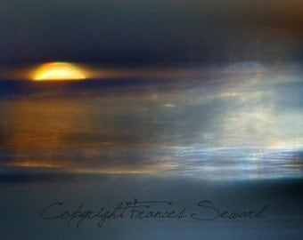 Sol y Luna, night photograph, sun and moon, museum giclee, creative landscape, astrological landscape, night photography, blue, huge photo
