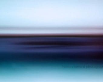 Inner Calm nature landscape surreal wall decor wall hanging contemporary modern blue calming sea contemplative zen photo photo composition