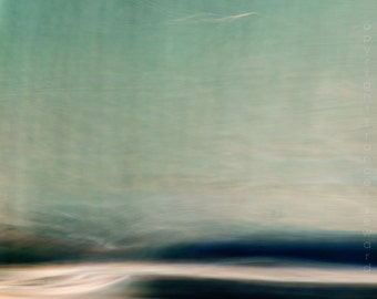 Teal Sea.  Fine Art Photograph.  Limited Edition Print. Giclee