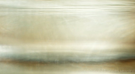 Inner Clarity, minimalist photo, abstract seascape, painterly landscape, mysterious photo, misty sea photo, blue, giclee canvas, oversized