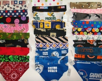 Dog Bandanna Scarf - Large - Holidays, Colts, Saints, Packers...and More