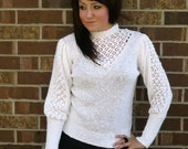Snow White Juliet Sleeve Cut-Out Sweater