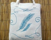 Feather Canvas Tote Bag