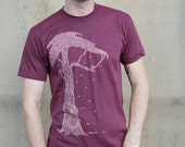 Tree Tee - american apparel heather cranberry